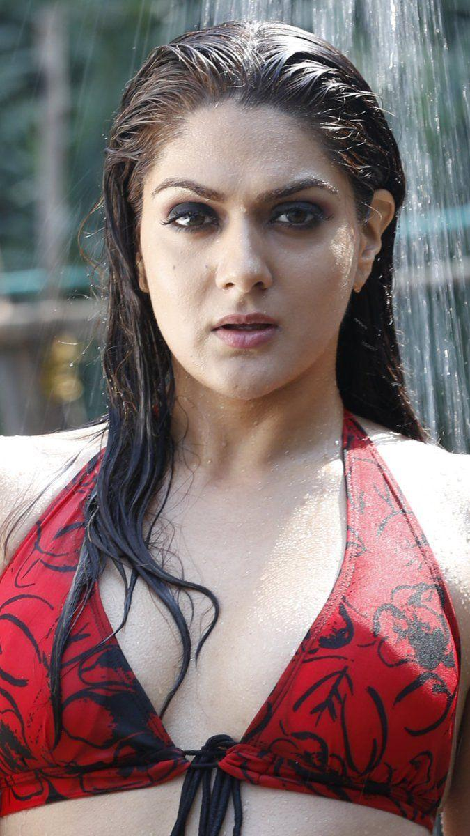 Sakshi Chaudhary Hot Sexy Navel In Red Bikini Photoshoot