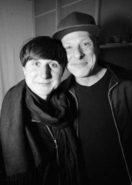 Marita Bullmann with Joseph Ravens on March 25, 2017, at Defibrillator Gallery