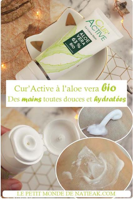 crème pour les mains réparatrices Cur'Active aloe vera d' Akeo