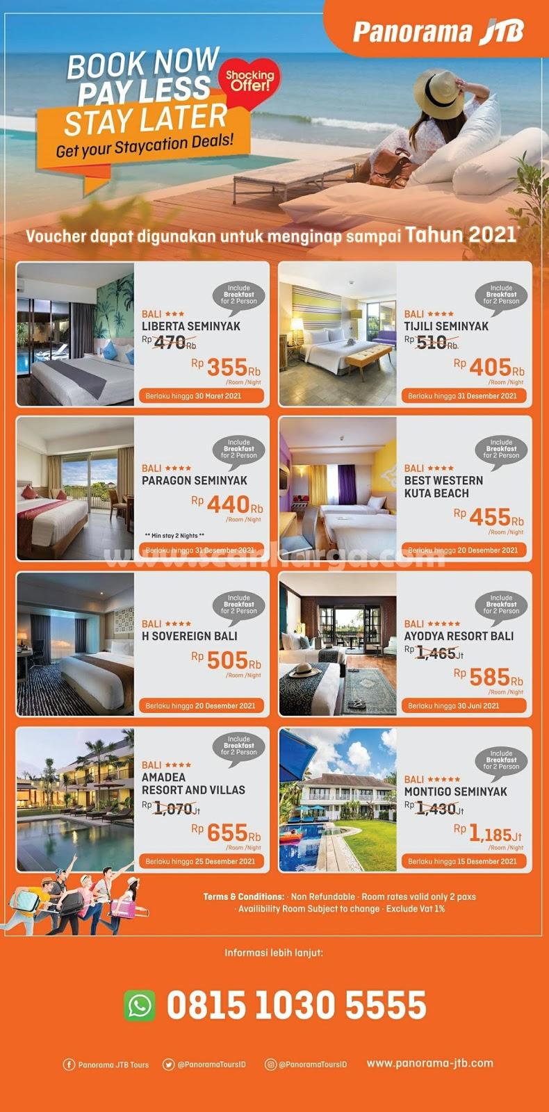 Promo Panorama JTB Tours Special Menginap Di Hotel Bali Harga Hanya 1 Jutaan 2020