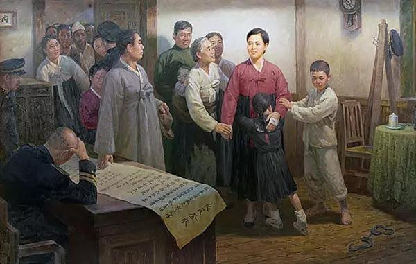 Historical Painting: Underground Revolutionary Activity of Kim Jong Suk