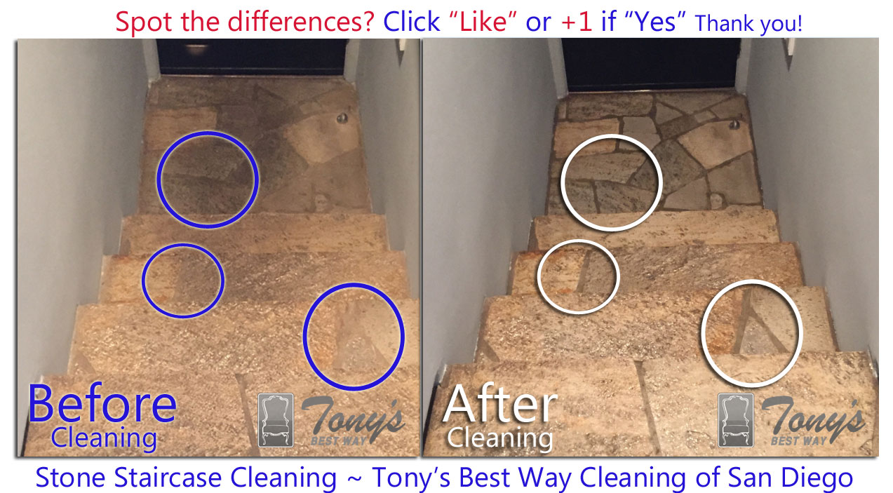 Slate Floor Cleaning San Diego Before After Photos Stone