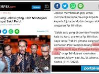 Sri Mulyani bocorkan Program Kartu Pra-Kerja Jokowi Demi Suara di Pilpres 2019