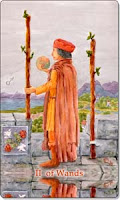 Two of Wands, Aquatic Tarot, www.aquatictarot.de