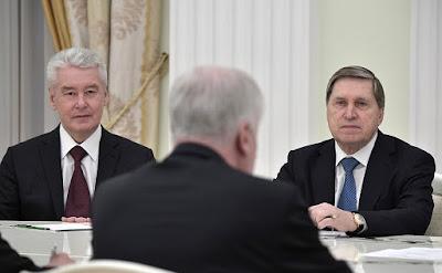 Horst Seehofer, Sergei Sobyanin, Yury Ushakov.