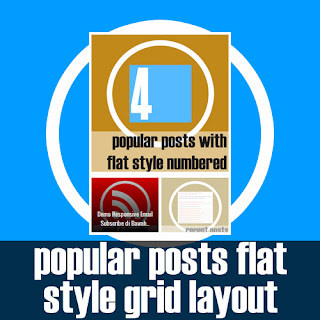 Popular Posts Flat Style Grid Layout