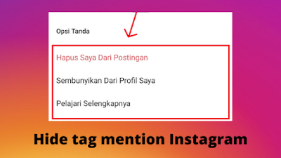 Cara menyembunyikan tag foto di Instagram