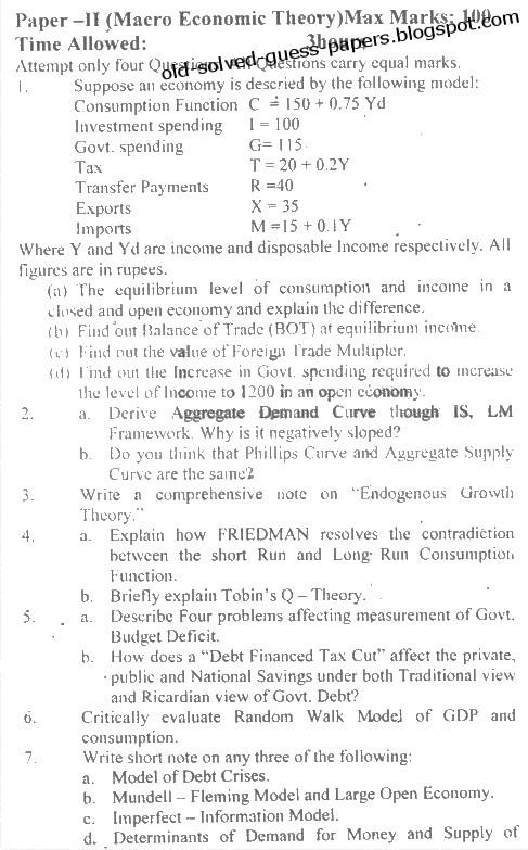 Economics paper 2 essays for scholarships