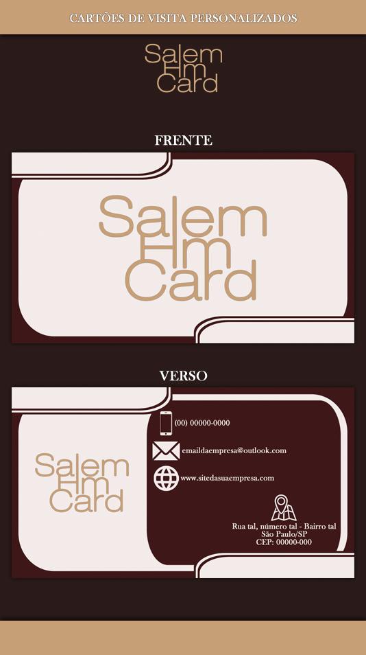 Cartão de Visita - Modelo 1 - Empresa