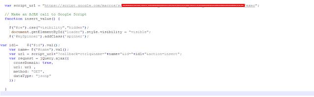apps script javascript on insert operation