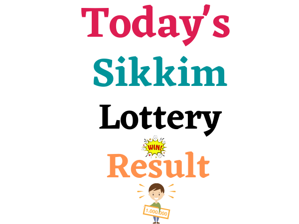 Today Live sikkim lottery result