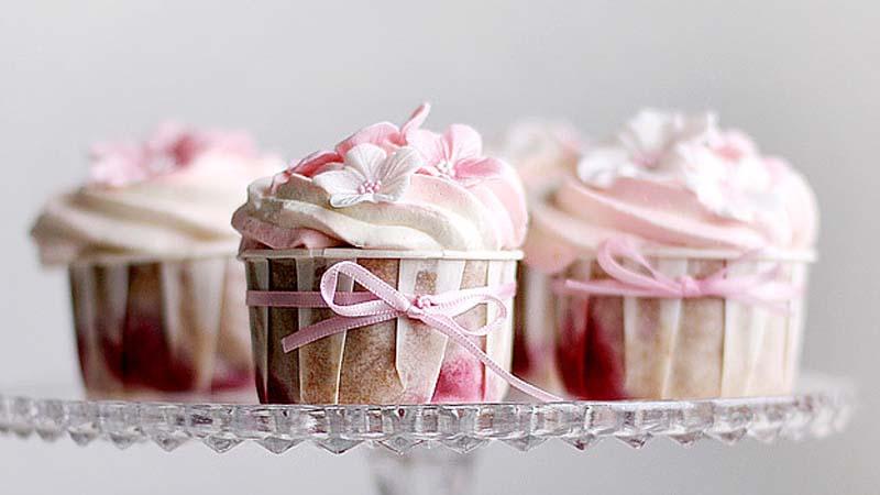 Strawberry Cardamom Cupcakes