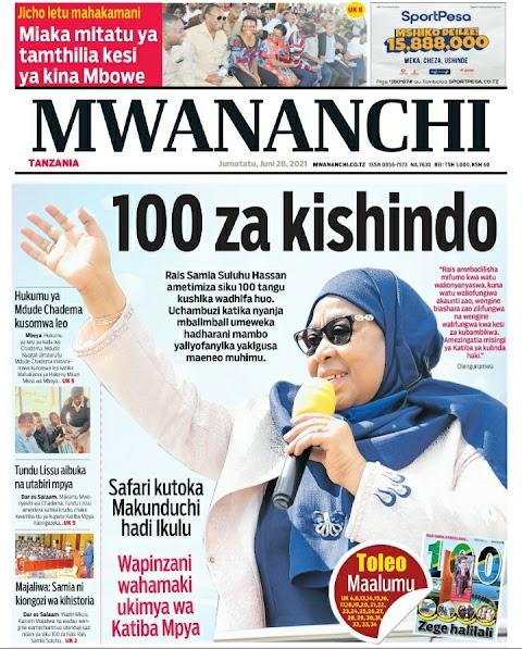 Habari kubwa Leo Magazeti 28.6.2021 / Hardnews, Udaku na Michezo.