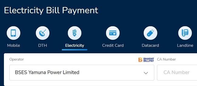 mobikwik bses yamuna bill payment