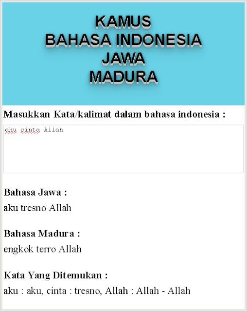 Membuat Aplikasi Kamus Bahasa Indonesia-Jawa-Madura Menggunakan Framework Vue.js