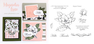 Stampin' Up! Good Morning Magnolia ~ Magnolia Lane Card Kit  ~ 2019-2020 Annual Catalog ~ Stamp of the Month Club Card Kit ~ www.juliedavison.com