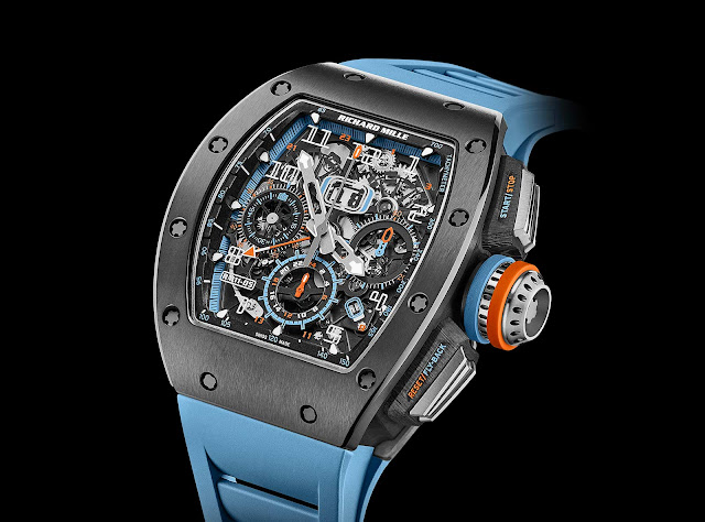Richard Mille RM 11-05 Automatic Flyback Chronograph GMT in Grey Cermet