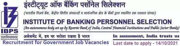 IBPS Government Jobs Vacancy Recruitment 2021