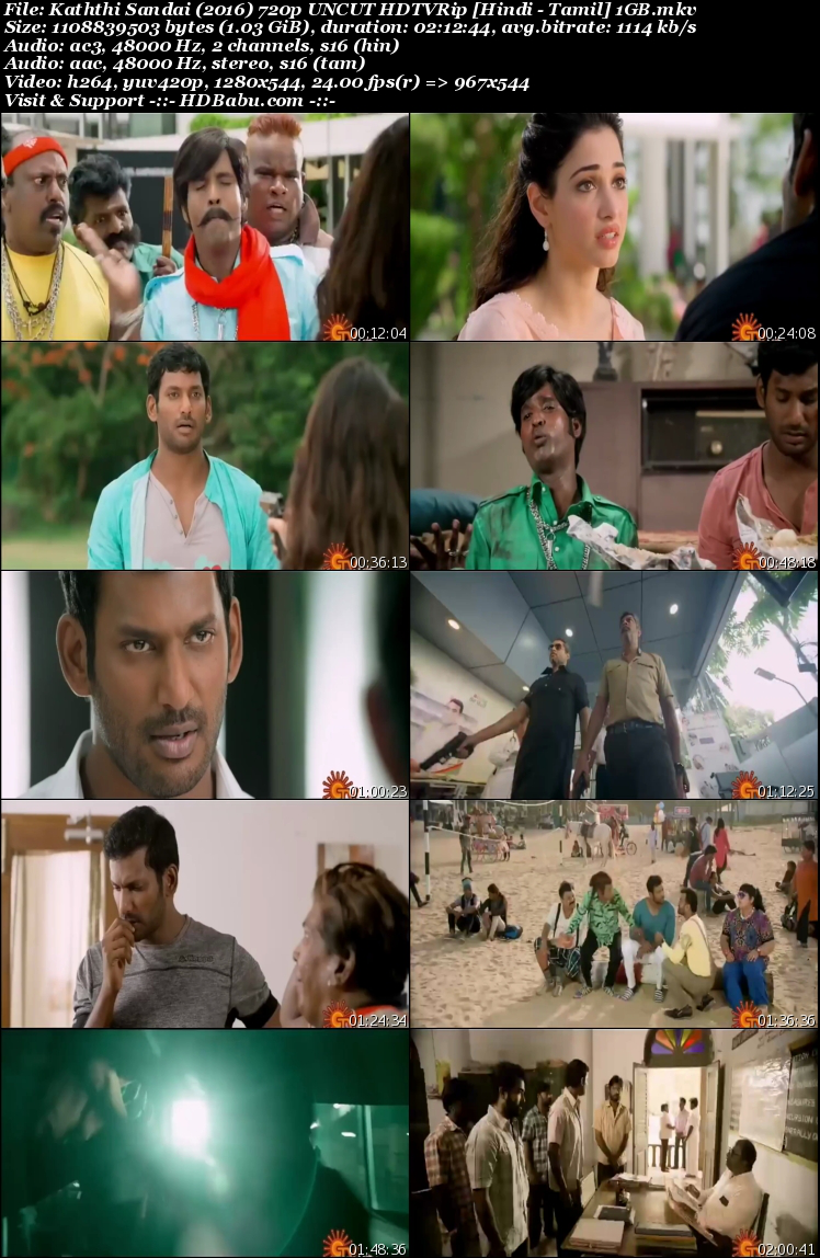Kaththi Sandai Hindi Dual Audio Full Movie Download, Rowdy Rajkumar Hindi Dubbed 720p HDRip 480p Full Movie Download Free, Kaththi Sandai 2016 UnCut Hindi Tamil Dual Audio 720p HDRip 1GB 400mb