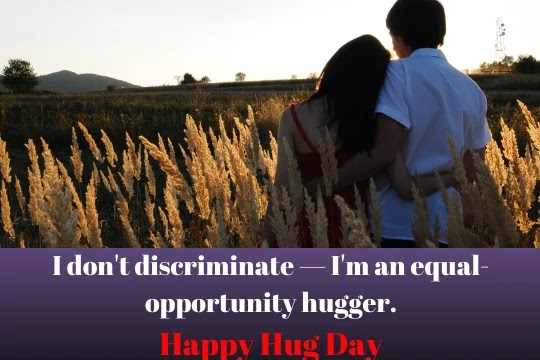 Beautiful Hug Day Messages With Image