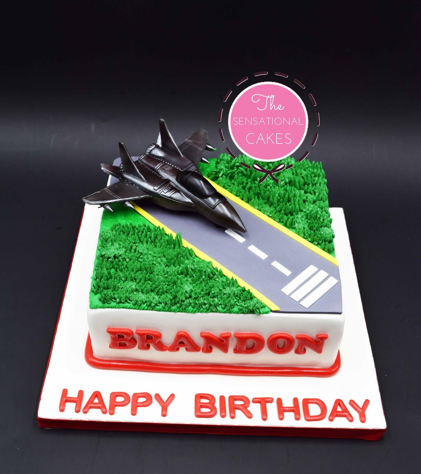 The Sensational Cakes F16 Fighter Plane Cake Singapore Birthday