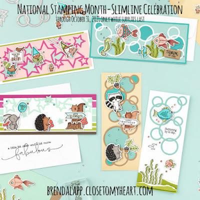 National Stamping Month—Slimline Celebration