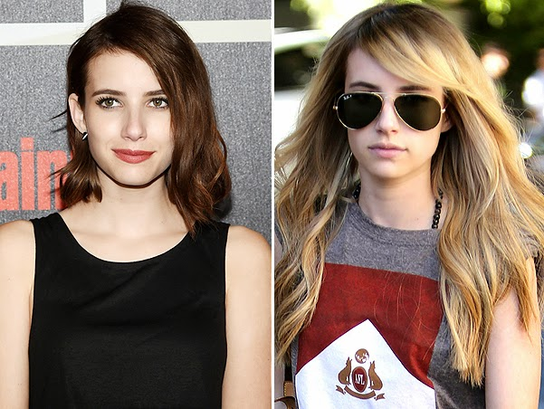 Emma Roberts new hairstyle