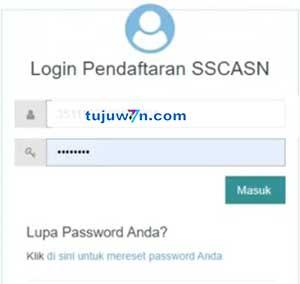 Cara login dan reset pendaftaran pppk 2021