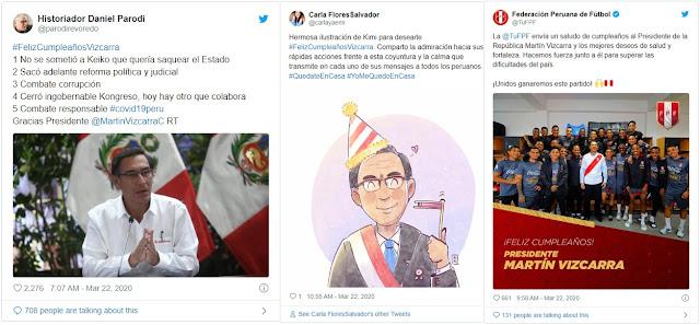 Presidente del Perú, Martín Vizcarra cumple 57 años y es tendencia en Twitter