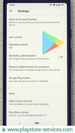 تحقق من الإصدار الحالي من Google Play المثبت على جهازك