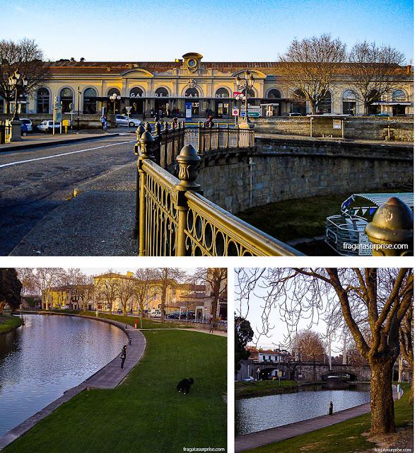 Canal du Midi em Carcassonne, França
