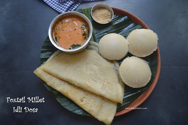 Foxtail Millet Idli Dosa Recipe | Thinal Idi Dosa Recipe | Millet Recipes
