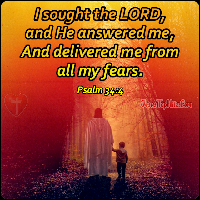 I sought the LORD... Inspirational Bible Verse...