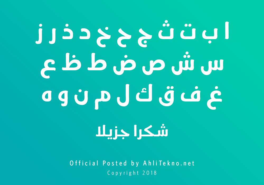kumpulan font typography arabic keren (Ara Jozoor)