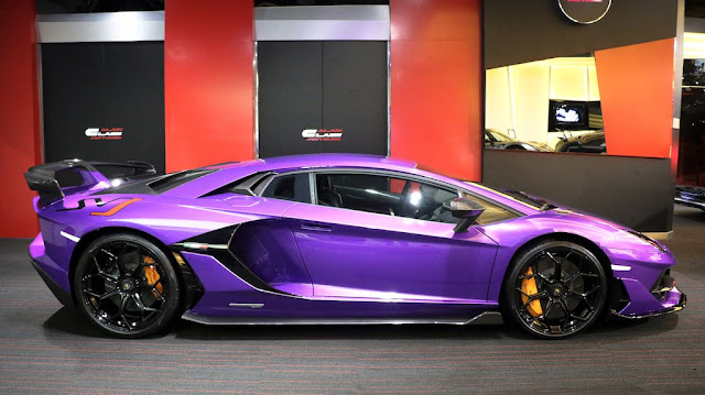 Eye Catching Purple Lamborghini Aventador Svj Listed For Sale