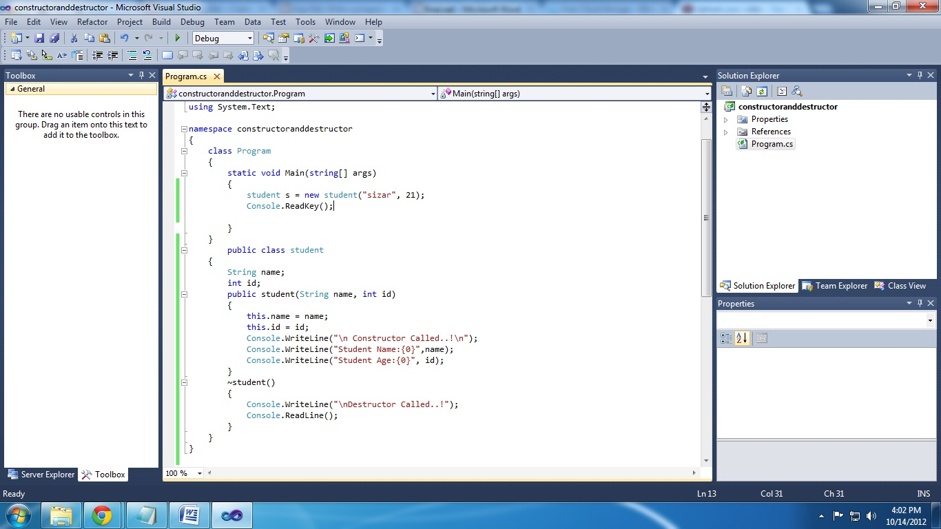 C program for employee details using constructor