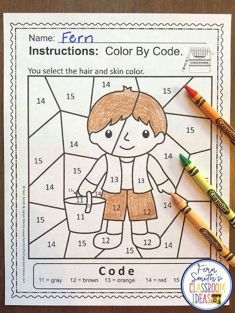 If you are looking for a resource for math remediation while still giving your students some confidence while reviewing important math skills, you will love this series. These five Color By Number worksheets focus on Numbers 11 to 15 with an adorable Jack and Jill Went Up the Hill theme. The five pages have only a few color selections and only a few numbers, to help your students focus on the repetitive pattern of numbers 11 to 15. All the while giving your students a fun and exciting review of important math skills at the same time! You will love the no prep, print and go ease of these printables. As always, answer keys are included.