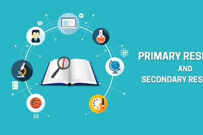 Perbedaan Antara Istilah Primer dan Sekunder