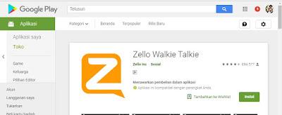 Aplikasi Zello di Play Store