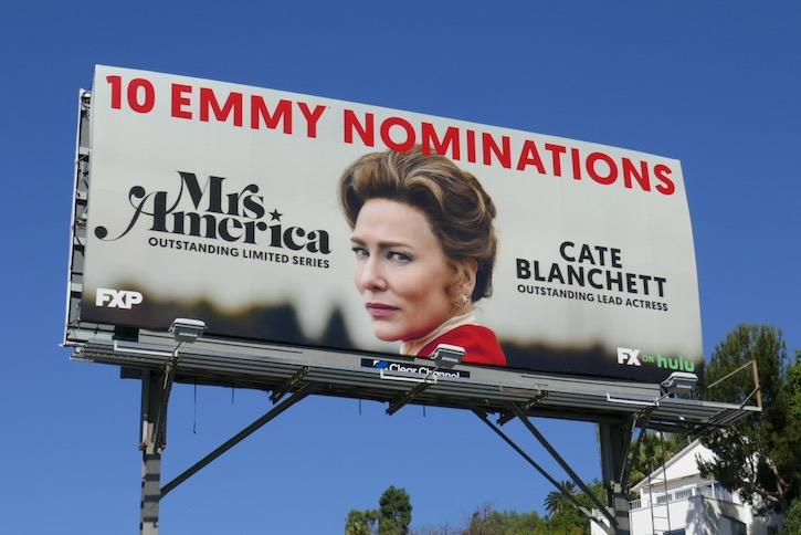 Cate Blanchett Mrs America Emmy nominee bilboard