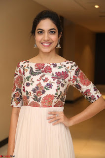 Ritu Varma smiling face Cream Anarkali dress at launch of OPPO New Selfie Camera F3 ~  Exclusive 082.JPG