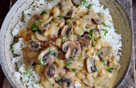 Vegan Mushroom Stroganoff Gluten Free