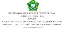 Juknis Bantuan Pemberdayaan KKG/MGMP/POKJAWAS 2019 (SK Dirjen Nomor 3459 Tahun 2019)