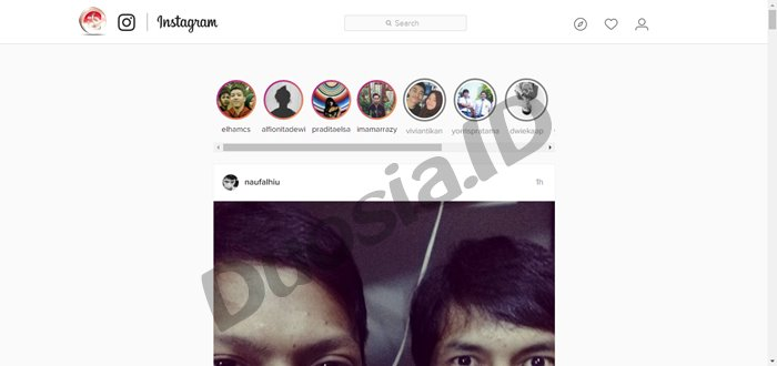instagram stroy di browser