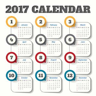 2017カレンダー無料テンプレート177