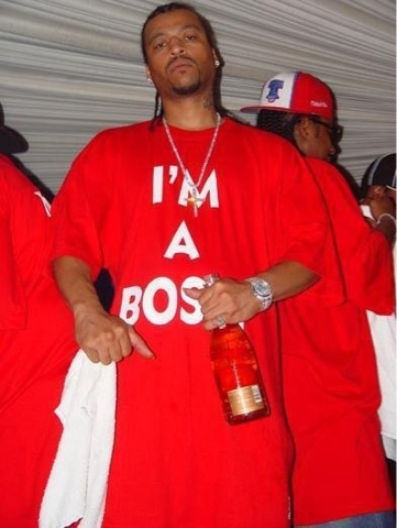 BMF Big Meech I'M A BOSS red t-shirt.  PYGEAR.COM