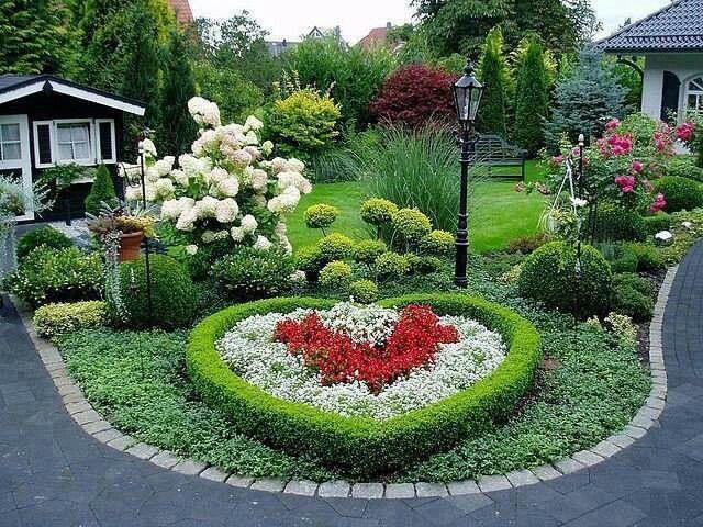 Landscape heart shaped garden