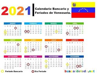 Lunes-bancarios-Días-festivos-de-Venezuela-en-el-2021-Días-feriados-de-Venezuela-en-el-2021-Calendario-bancario-de-Venezuela-2021-Calendario-SUDEBAN-2021