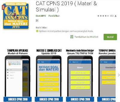 CAT CPNS 2019 ( Materi & Simulasi )