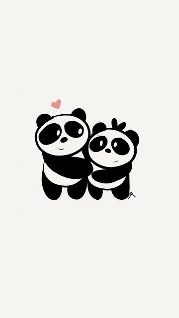 girly cute panda wallpaper